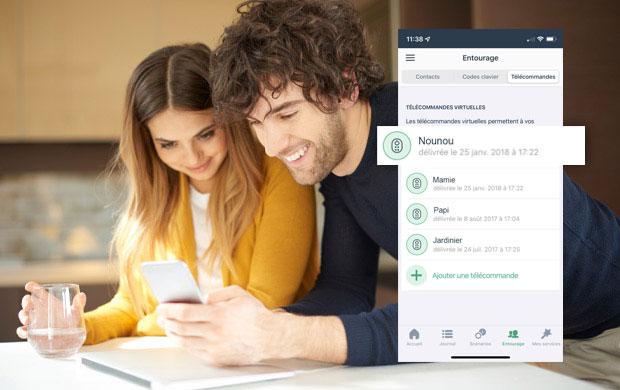 Création de télécommandes virtuelles avec l'application IMA PROTECT
