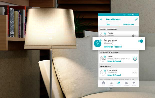 Pilotage des objets connectés avec l'application IMA PROTECT